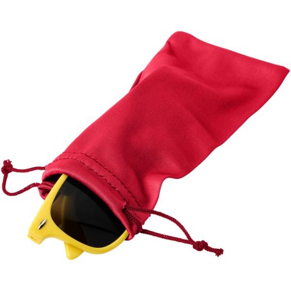Clean sáček z mikrovláken na sluneční brýle - Červená s efektem námrazy