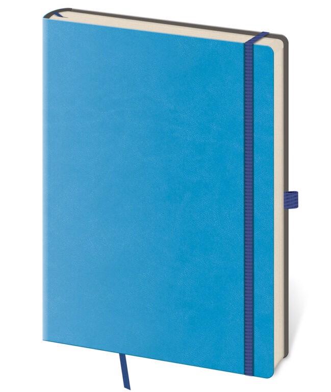 Zápisník s čistým blokem Flexies, L - modrý