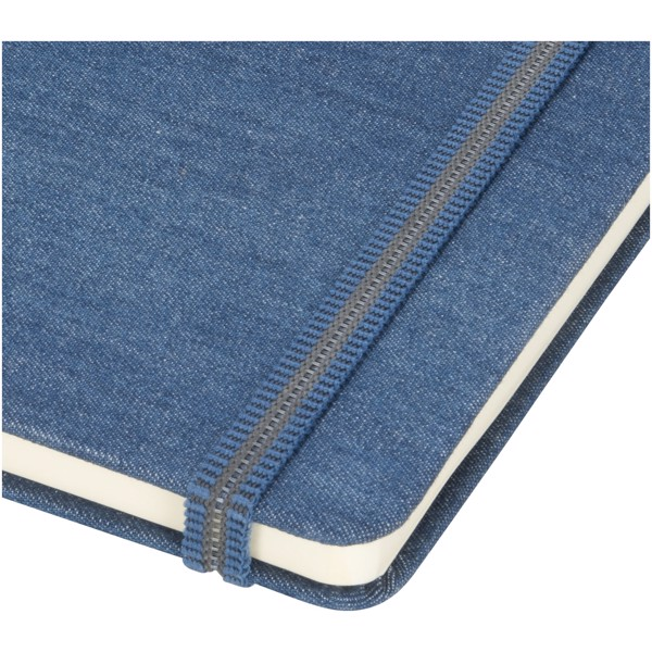 Jeans A5 Stoff Notizbuch - hellblau