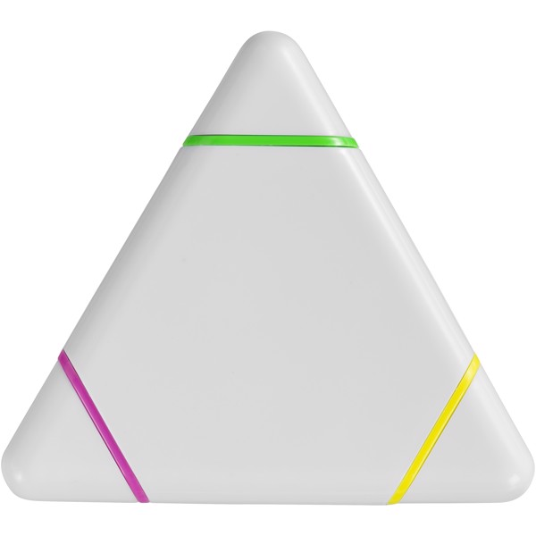 Bermudian triangle-shaped highlighter - White