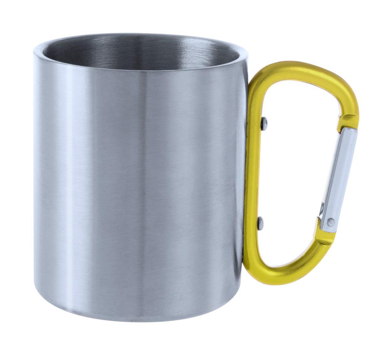 Cană Metalică Bastic - Galben / Argintiu