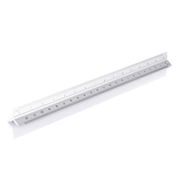 Hliníkové trojúhelníkové pravítko 30cm