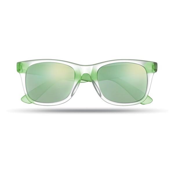 Lustrzane okulary przeciwsłon America Touch - zielony