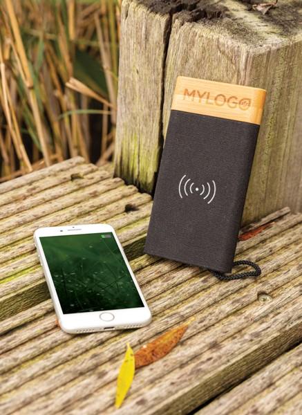 Bamboo X vezeték nélküli töltős 5000 mAh powerbank