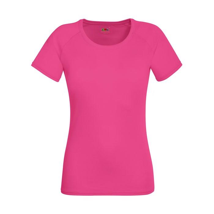 Ladies T-Shirt Sports Lady-Fit Performance 61-392-0 - Fuchsia / XXL