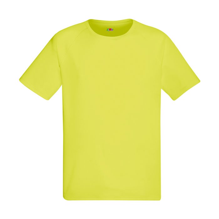 Men's T-Shirt Sports Performance T-Shirt 61-390-0 - Bright Yellow / S