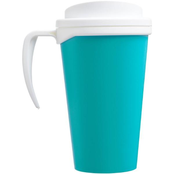 Americano® Vaso térmico grande de 350 ml - Azul aqua / Blanco