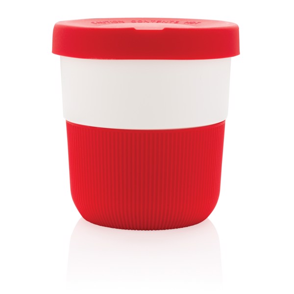 PLA hrnek coffee to go 280ml - Červená