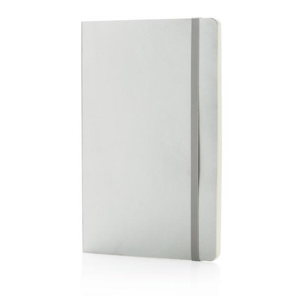 Metalický poznámkový blok Deluxe v měkké vazbě