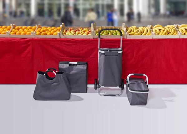 Polyester (320-330 gr/m²) shopping basket. - Red