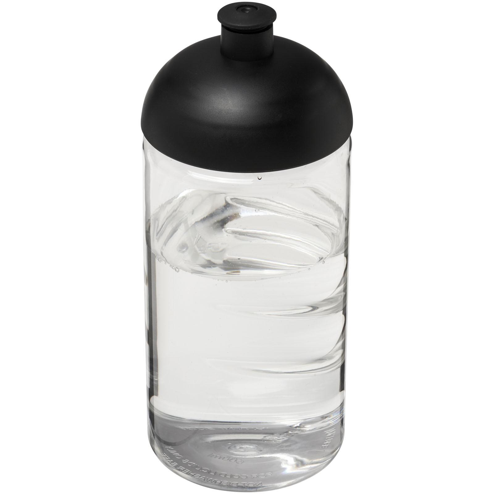Láhev s kupolovitým víčkem H2O Bop® 500 ml - Průhledná / Černá