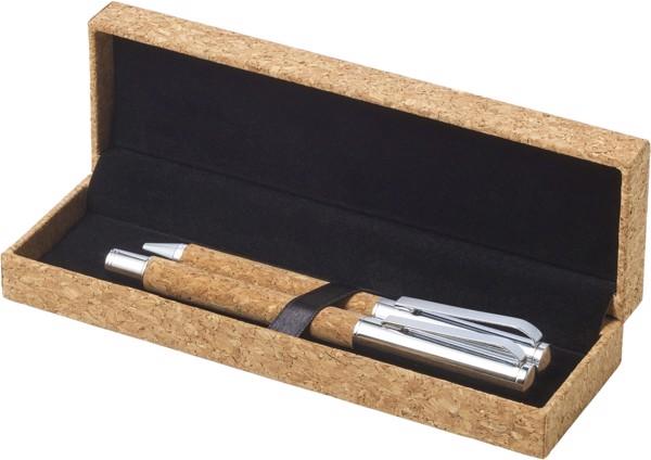 Cork writing set