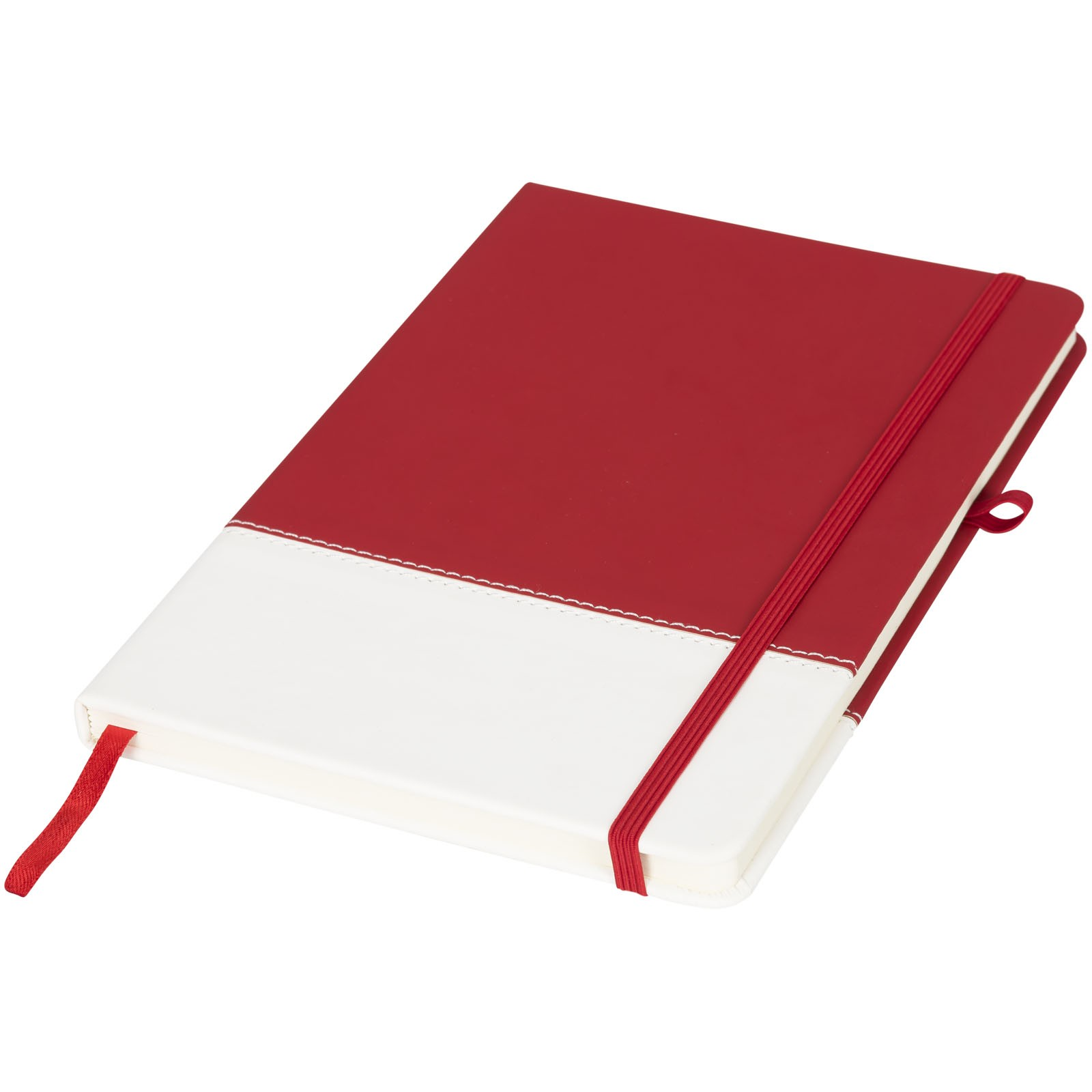 Two-tone A5 colour block notebook - Red