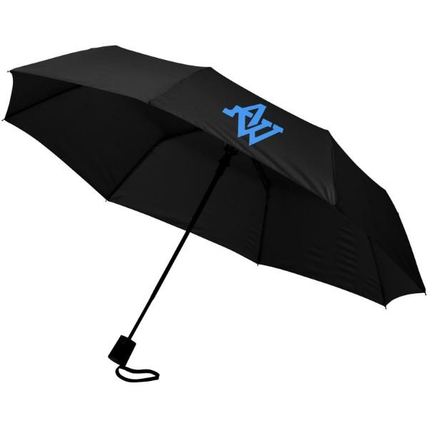 """Skládací deštník Wali 21"""" s automatickým otvíráním - Černá"""