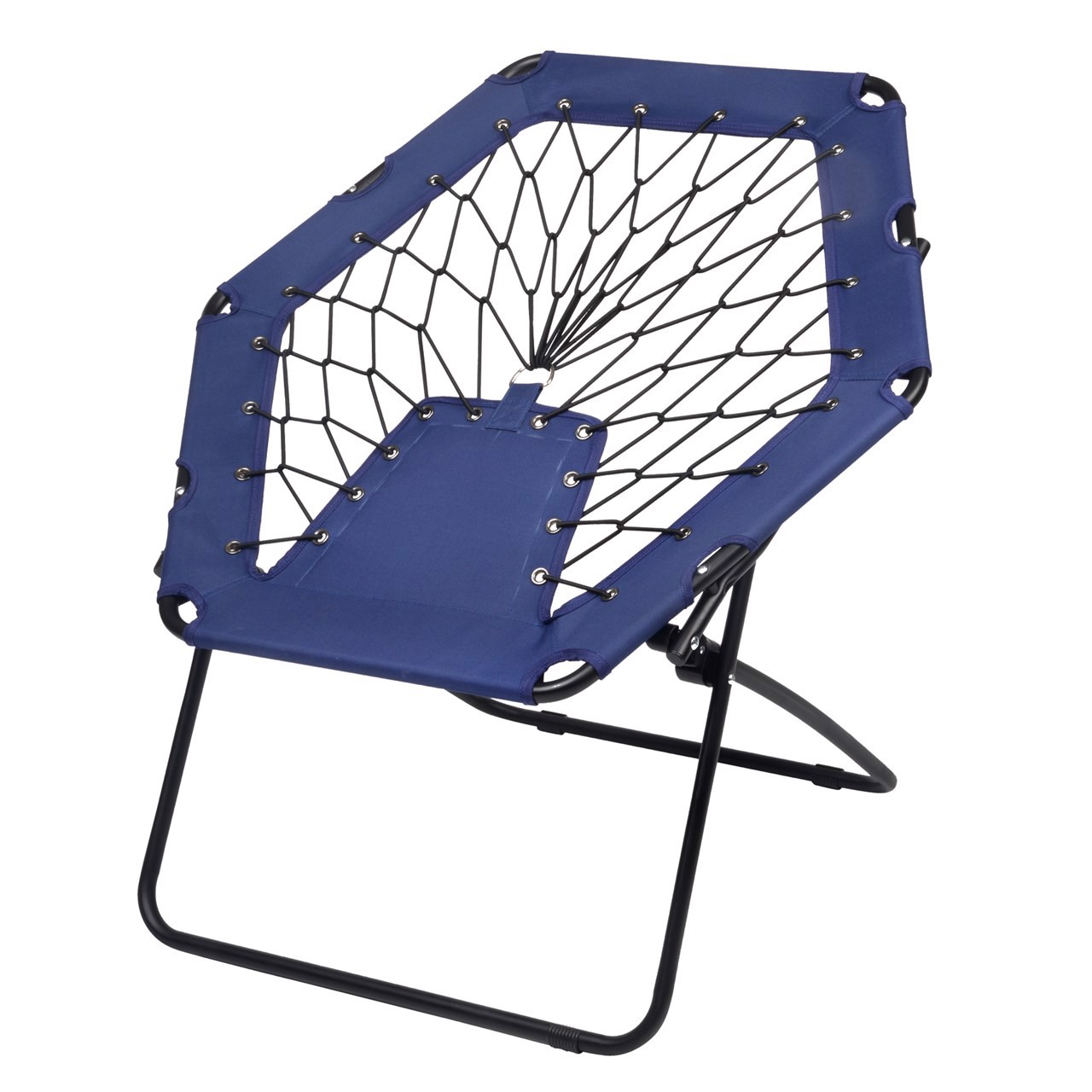 Portable Bungee Chair Chill Out Black Blue Europegift
