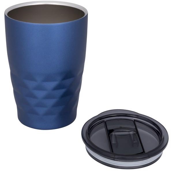 Geo 350 ml copper vacuum insulated tumbler - Blue