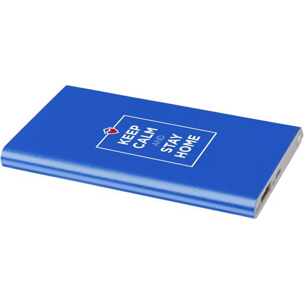 Hliníková powerbanka Pep 4 000 mAh - Světle modrá