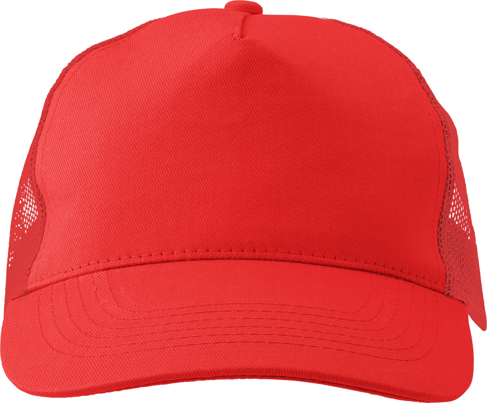Cotton twill and plastic cap - Red