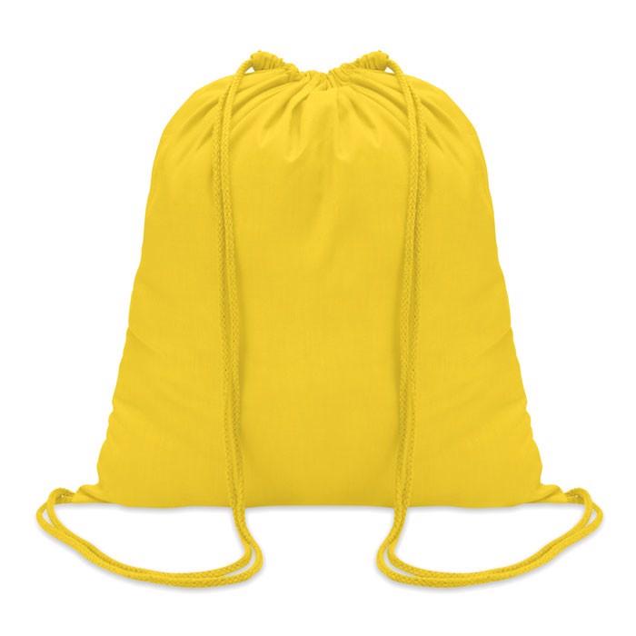 Sacoşă din bumbac 100 gr/m2, c Colored - yellow