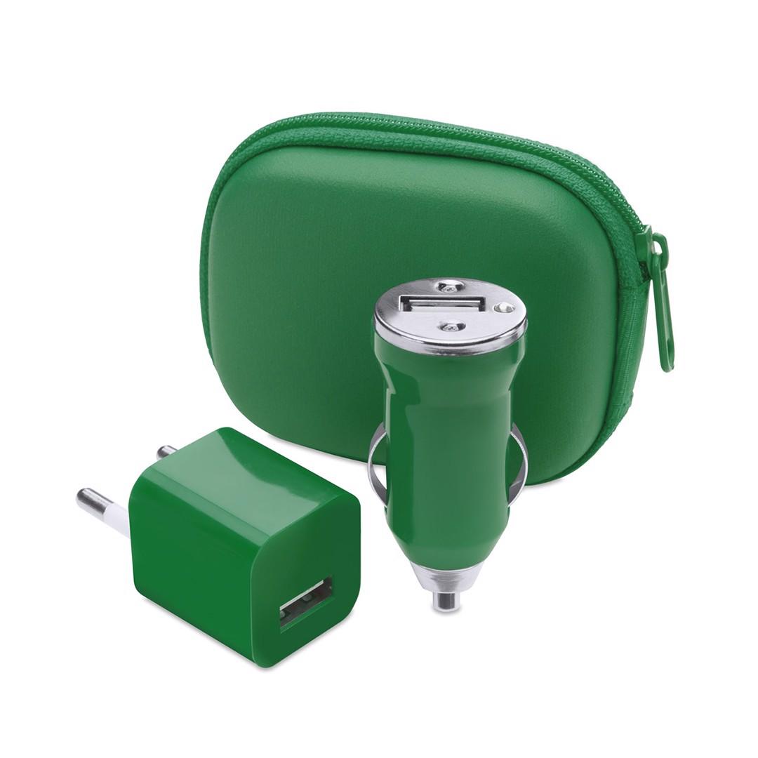 Set Carregador USB Canox - Verde