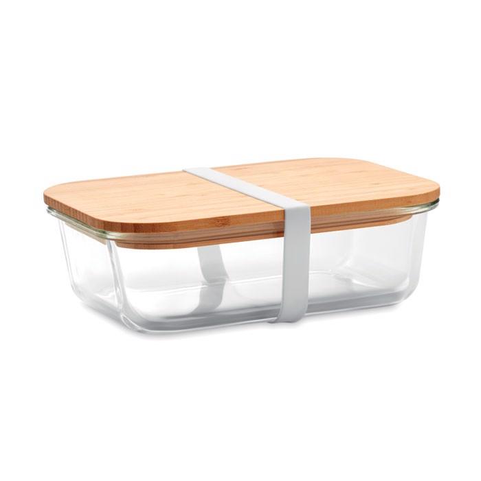 Steklena škatla za malico s pokrovom iz bambusa Tundra Lunchbox