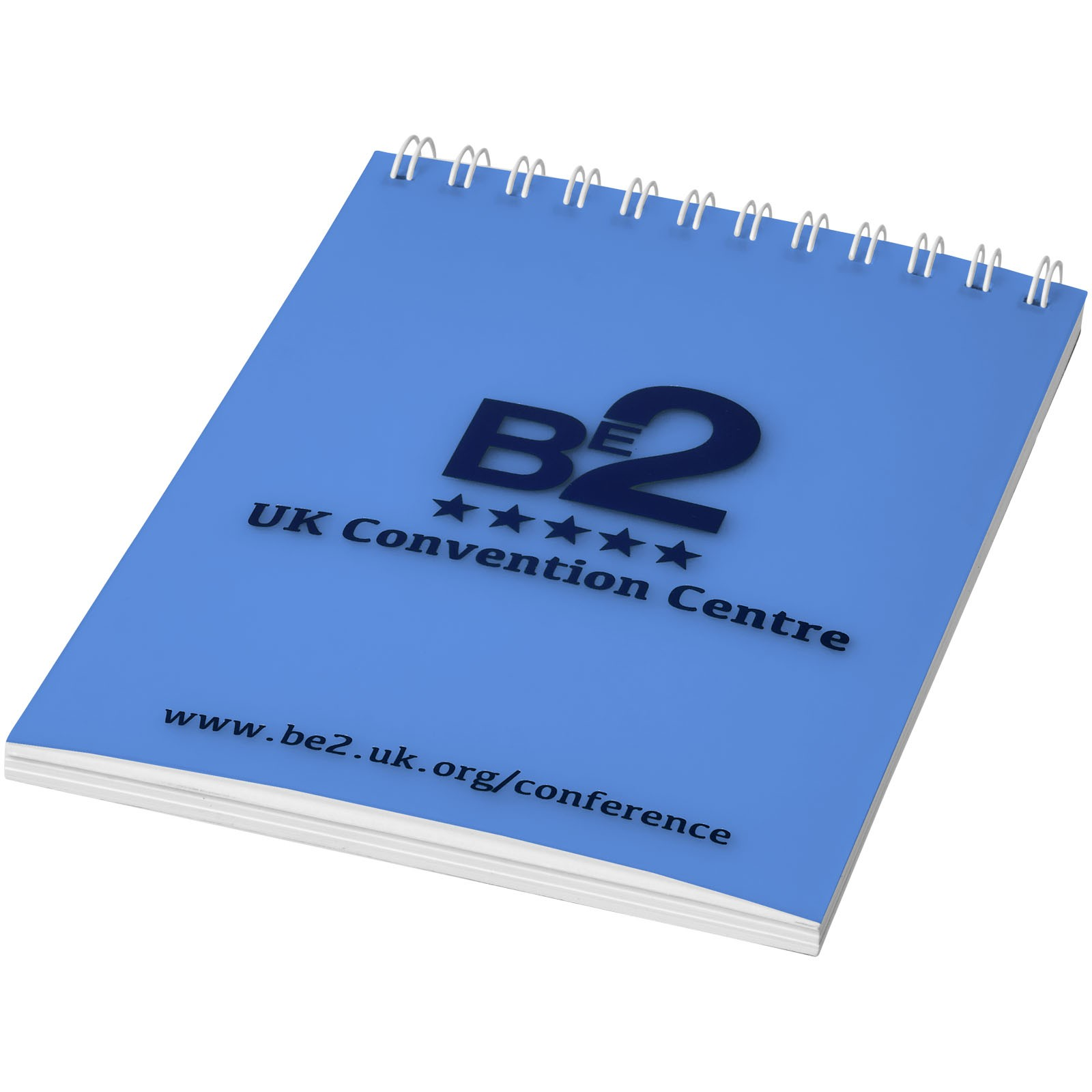 Poznámkový blok Rothko A7 - Modrá s efektem námrazy / Bílá / 50 pages