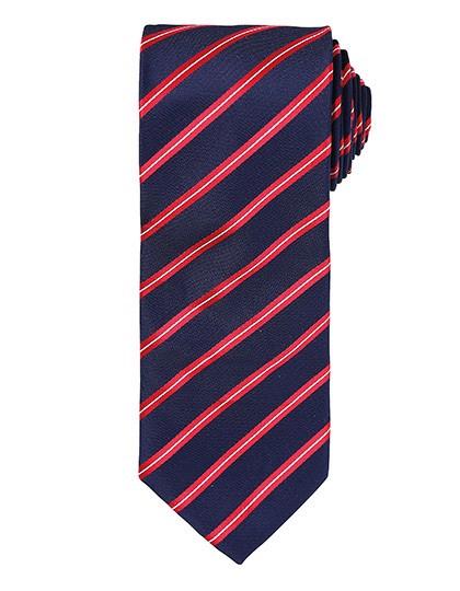 Sports Stripe Tie - Navy / Red / One Size
