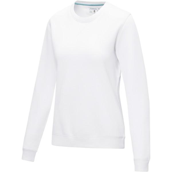 Jasper women's GOTS organic GRS recycled crewneck sweater - White / XXL