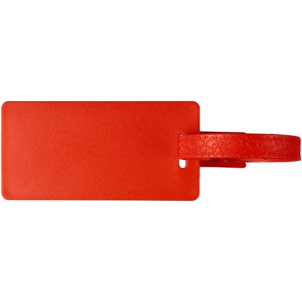 Štítek na zavazadla s okénkem River - Červená s efektem námrazy