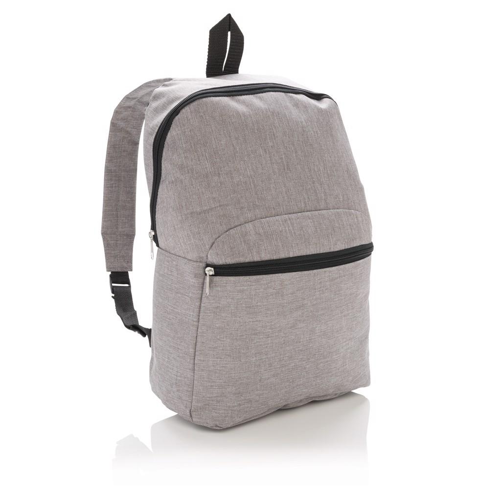 Základní dvoubarevný batoh - Šedá