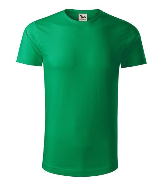 Tričko pánské Malfini Origin - Středně Zelená / 2XL