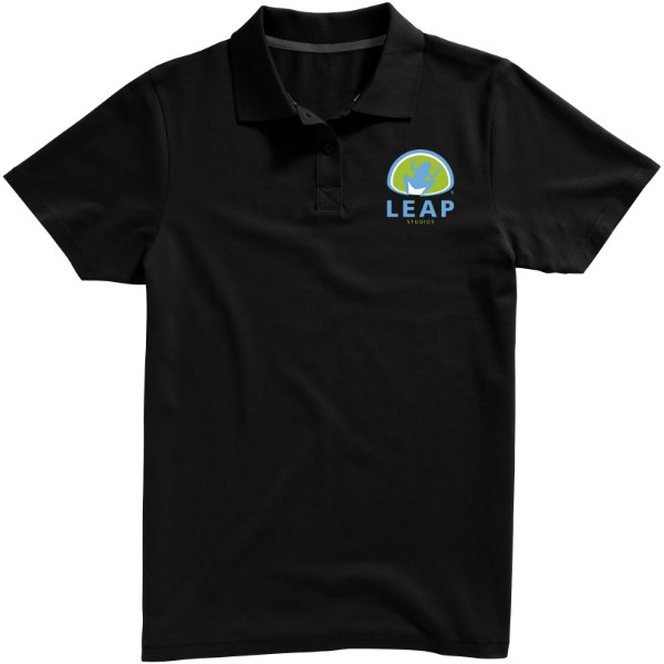 Seller short sleeve men's polo - Solid Black / 3XL