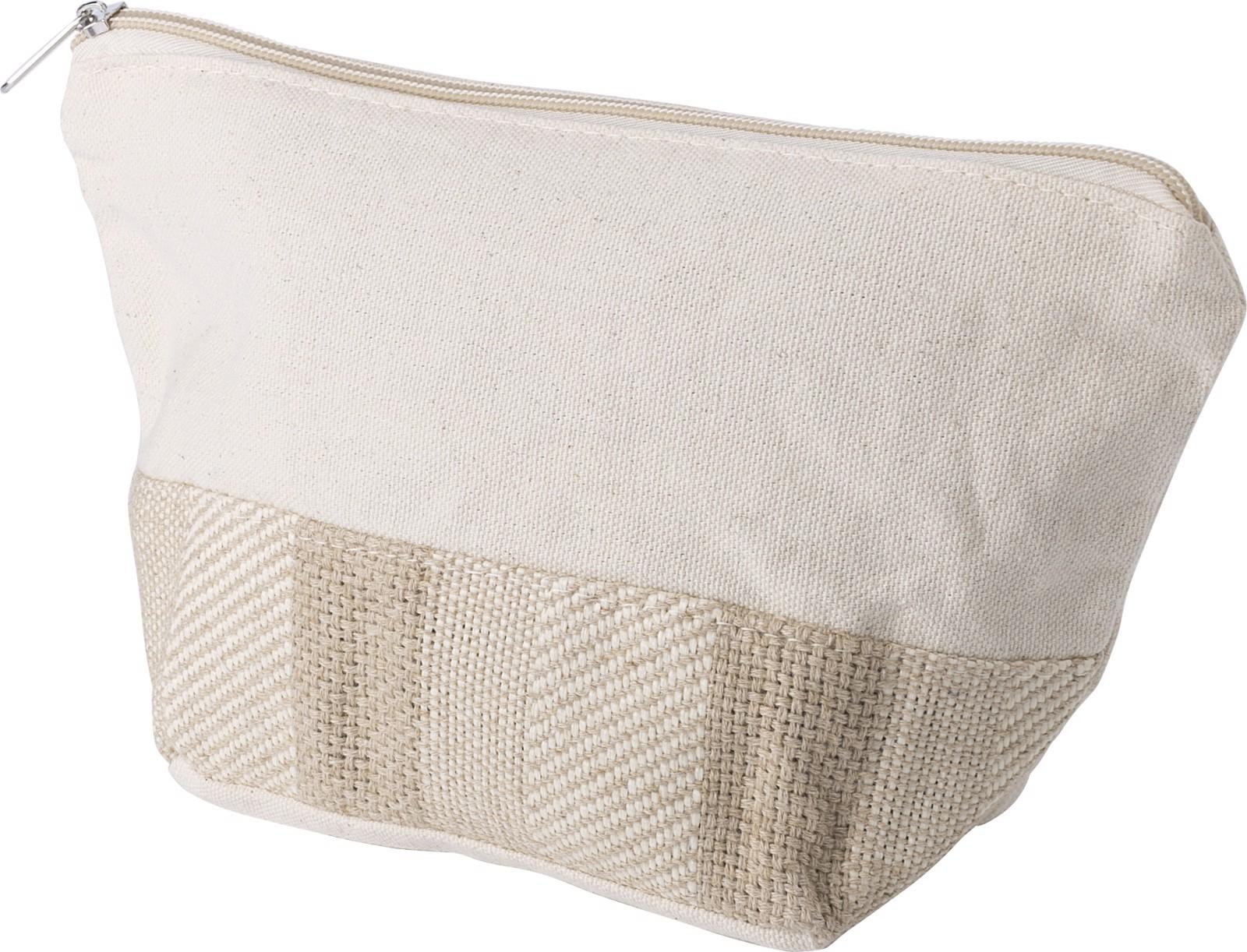 Cotton toiletry bag