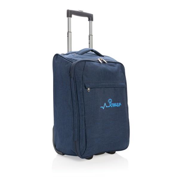 Dvoutónový skladný kufřík - Modrá