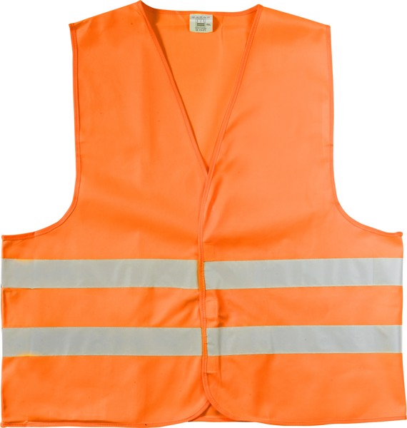 Polyester (150D) safety jacket - Orange / XXL