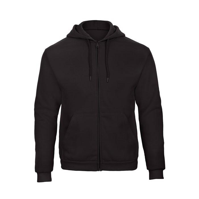 Herren Kapuzen Sweatshirt Hooded Full Zip Sweat Unisex - Black/Black Opal / XXL