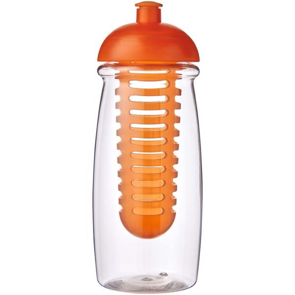 H2O Pulse® 600 ml dome lid sport bottle & infuser - Transparent / Orange
