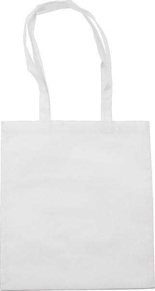 Nonwoven (80 gr/m²) shopping bag - White