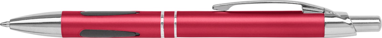 ABS ballpen with rubber grip pads - Red