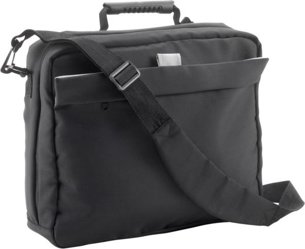 Polyester (1680D) laptop bag - Black