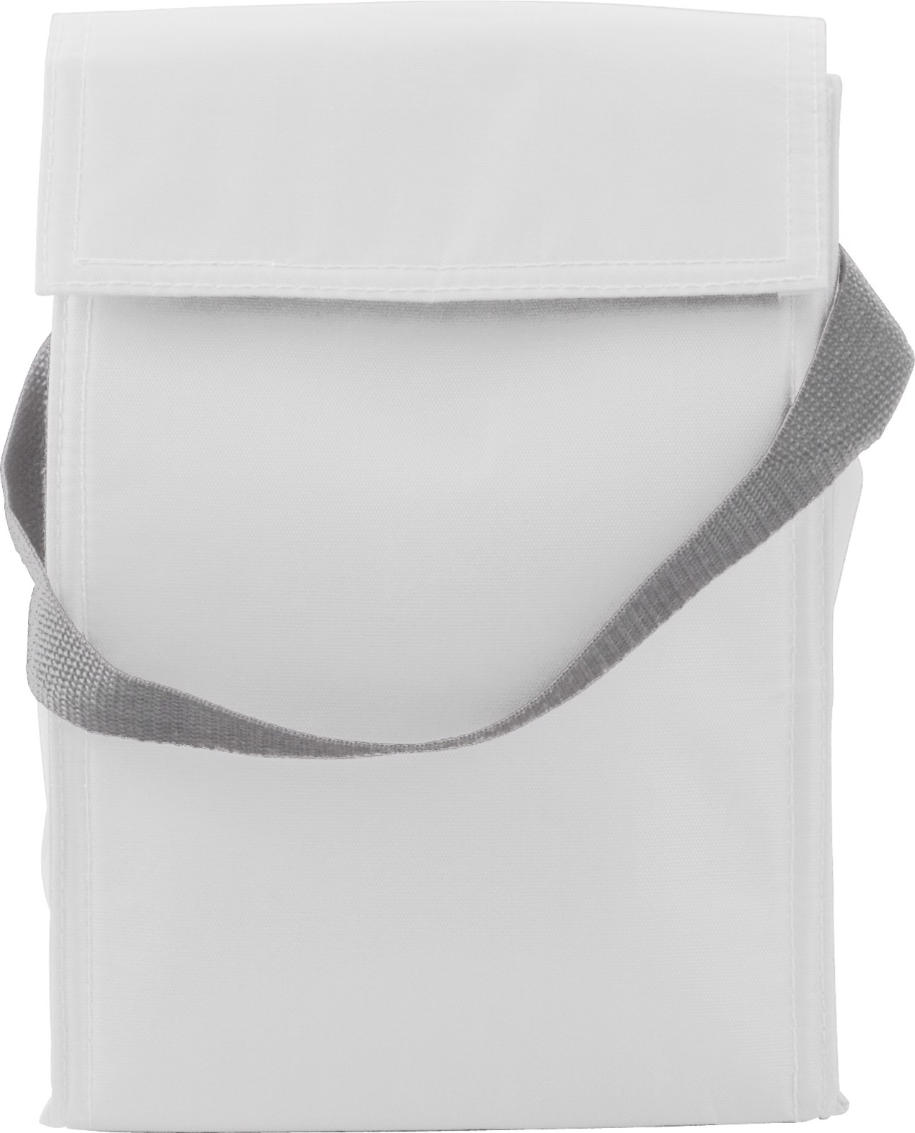 Polyester  (420D) cooler/lunch bag - White