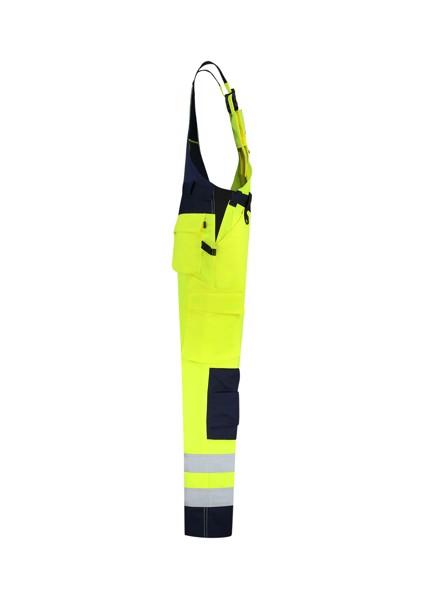 Pracovní kalhoty s laclem unisex Tricorp Bib & Brace High Vis Bicolor - Fluorescenční Žlutá / 50