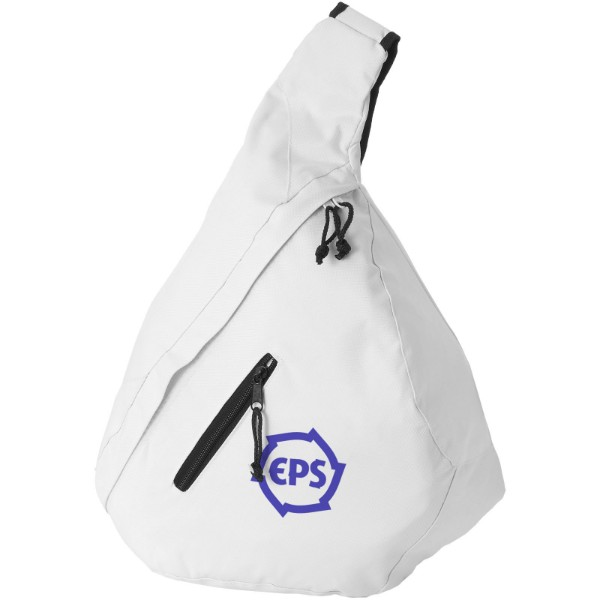 Brooklyn mono-shoulder backpack - White