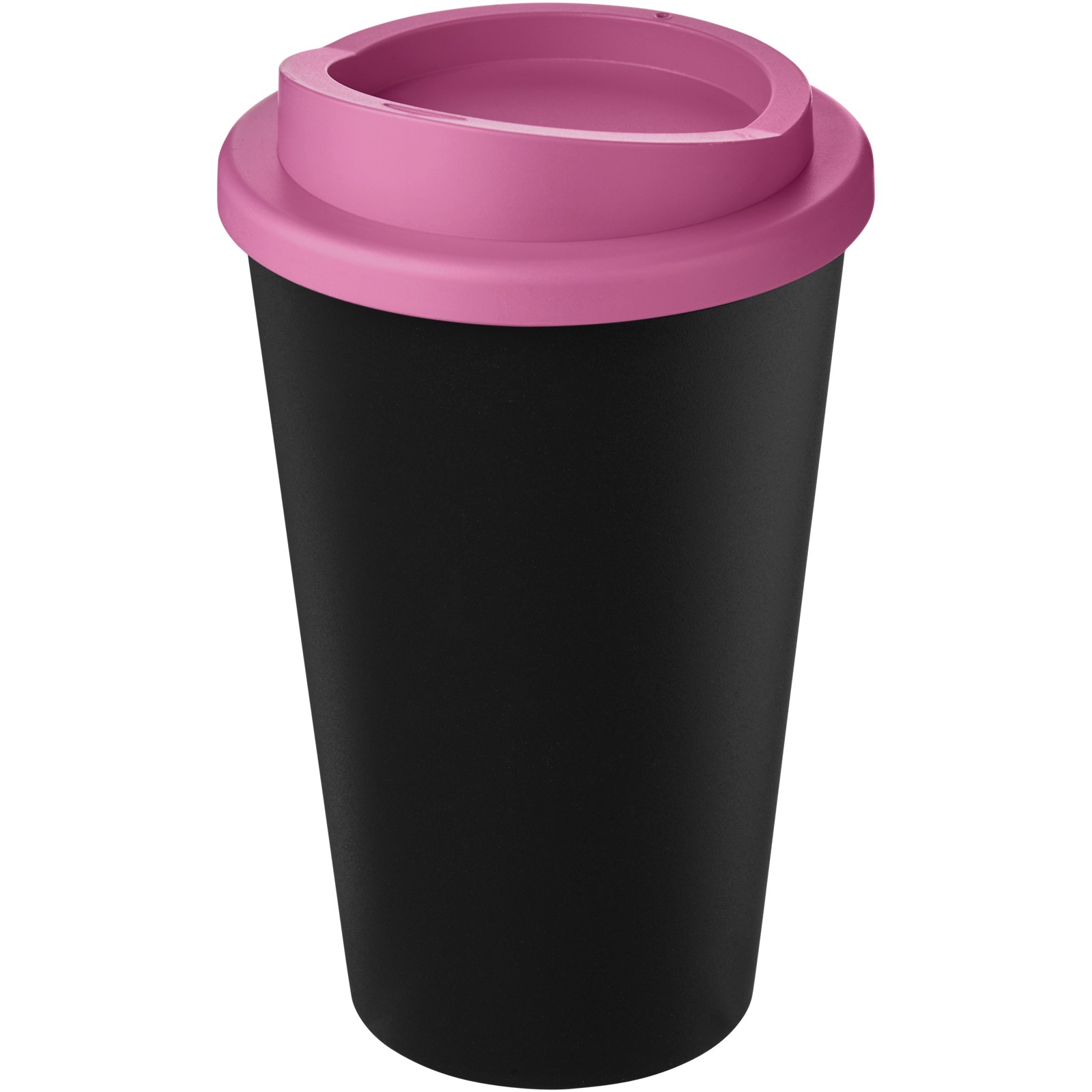 Americano Eco 350 ml recycled tumbler - Solid Black / Pink