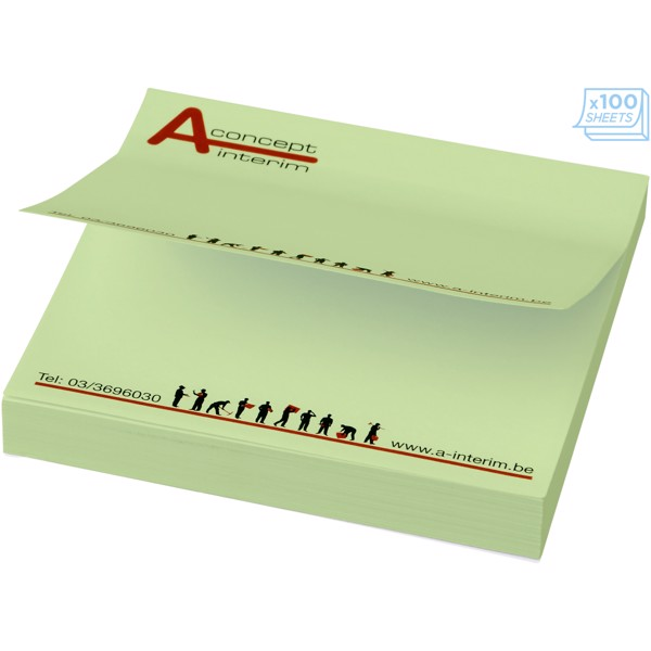 Sticky-Mate® square sticky notes 75x75mm - Mint / 25 pages
