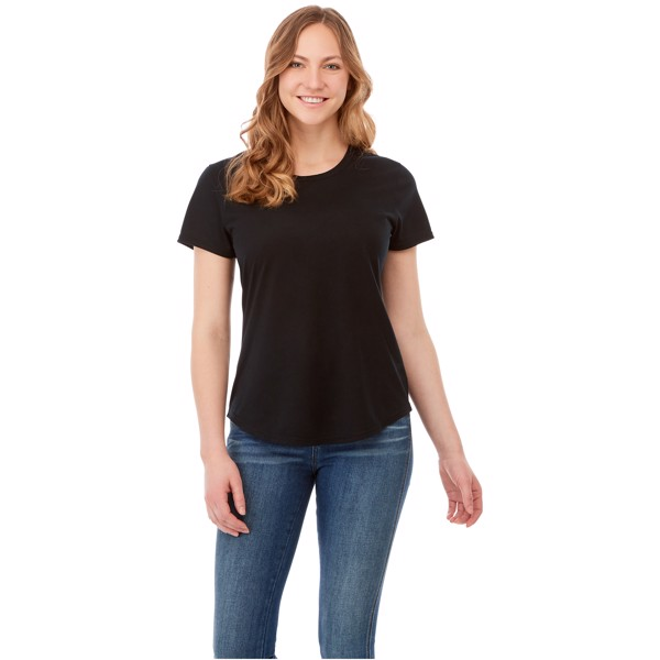 Jade short sleeve women's GRS recycled t-shirt - Solid Black / S
