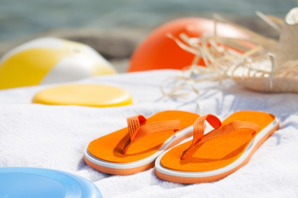 Plážové Žabky Cayman - Oranžová / Bílá / F
