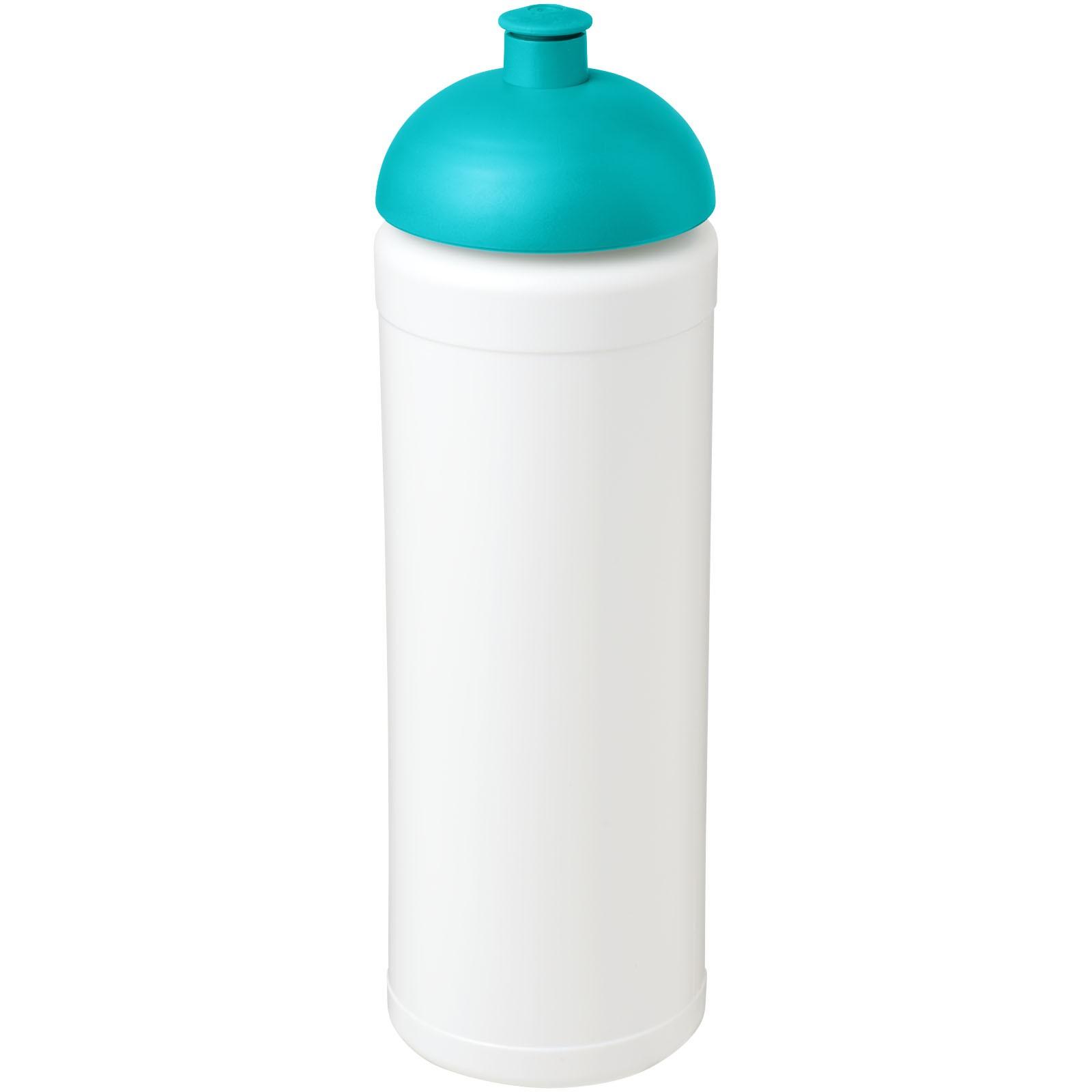 Sportovní láhev s kupolovitým víčkem Baseline® Plus grip 750 ml - Bílá / Tyrkysová