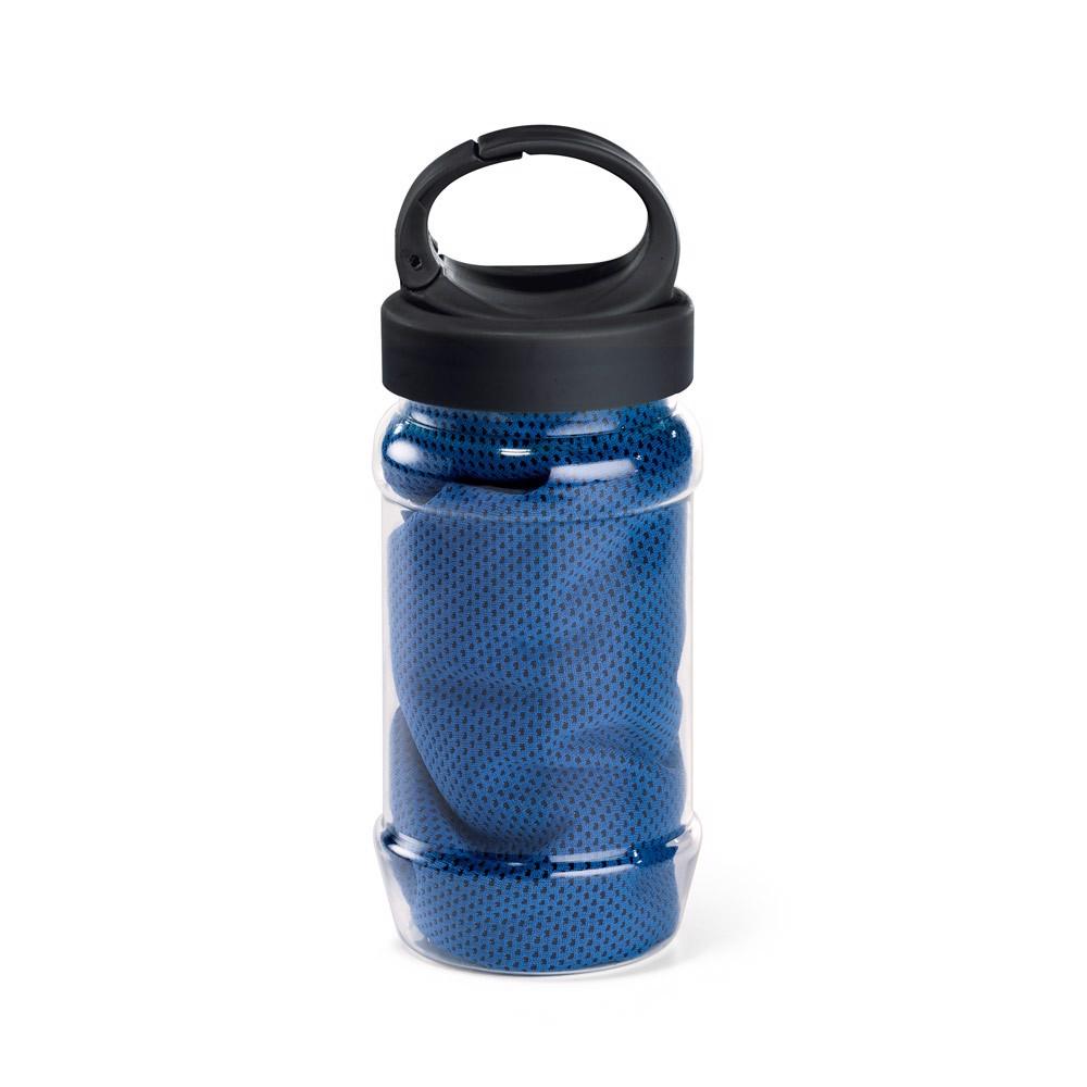 ARTX PLUS. Sports towel with bottle - Royal Blue