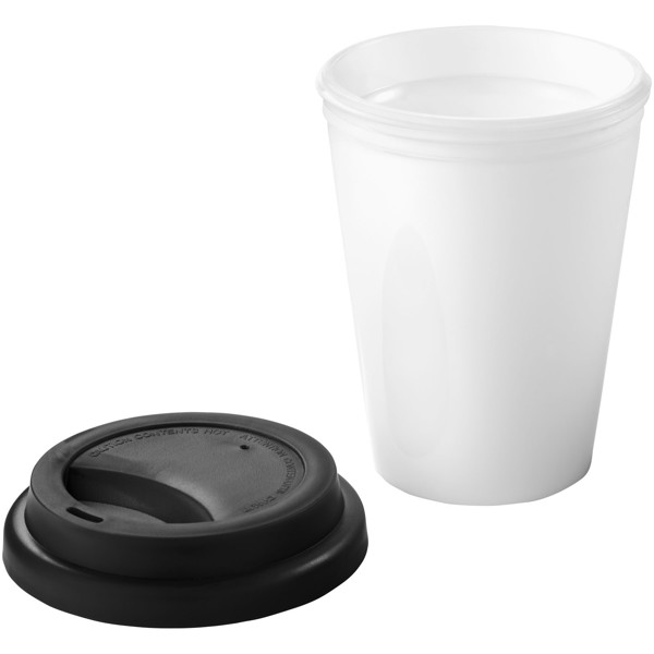Zamzam 330 ml insulated tumbler - White / Solid black